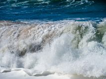 Waves of surf stormy Atlantic near Safi royalty free stock image