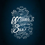 Waves Surf Typography Design Stock Photography