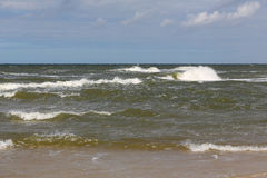 The waves on a surface of the Baltic Sea Royalty Free Stock Photography