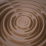 Waves on the surface of the chocolate Stock Images
