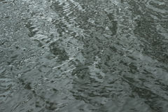 Waves on the surface of the dark water  background Stock Photo