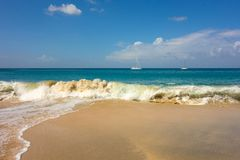A ground sea at a pristine bay in the caribbean Royalty Free Stock Photography