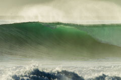 Waves Swells Cyclone. Ocean wave wall from cyclone swells Stock Photos