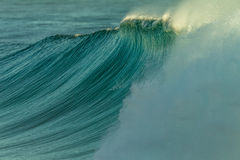 Waves Swells Cyclone. Ocean wave wall from cyclone swells Stock Photo