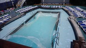Waves in Swimming Pool stock video