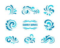 Waves and swirls royalty free illustration