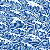 Waves texture Stock Image