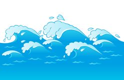Waves theme image 3 stock illustration