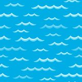 Waves theme seamless background 2 Royalty Free Stock Images