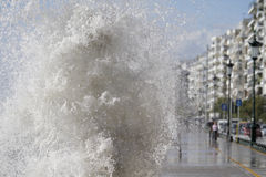 Waves in Thessaloniki Royalty Free Stock Photography