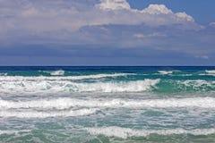 Waves to Falasarna beach Royalty Free Stock Photos