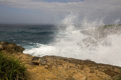 Waves in the turbulent sea, near Lembongan Island, Indonesia Stock Photography