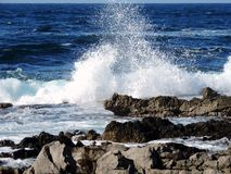 Waves in the Tyrrhenian Sea Royalty Free Stock Photography