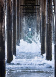 Waves Under A Pier royalty free stock photography
