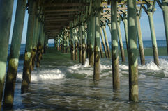 Waves under the pier Stock Photography