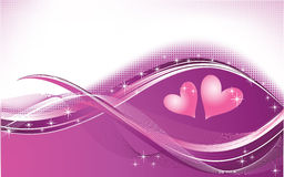 Waves valentines background Royalty Free Stock Photo