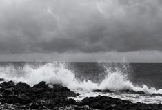 Waves. View of the waves in winter Royalty Free Stock Photography