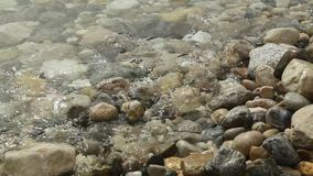 Waves washed pebble beach. HD stock video footage