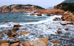Waves washing the shore Stock Photos