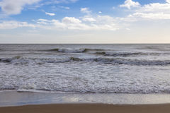 Waves Washing up Balmedie Beach Royalty Free Stock Images