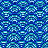 Waves water banner made of paper, vector eps8 Stock Image