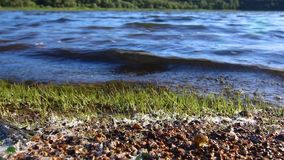 Waves on the water. Detail of the waves on the water stock video footage