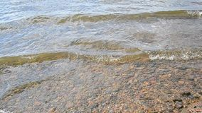 Waves on the water of the lake. stock footage