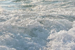 Waves. Water waves in a river Stock Images