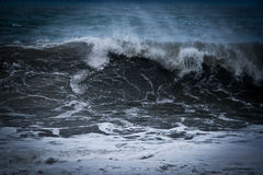 Waves. A wave in the stormy ocean Royalty Free Stock Photography