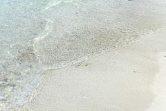 Waves on sand Royalty Free Stock Images