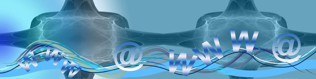 Waves, www and @ Royalty Free Stock Images