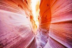 Waves of Zebra Slot Canyon Utah, USA Stock Images