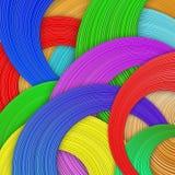 Wavew da cor ilustração stock