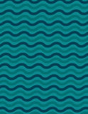 Wavey line background pattern. With green lines over yellow Stock Images