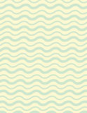 Wavey line background pattern. With green lines over yellow Stock Photo
