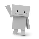 Waving. 3d character waving isolated in white Stock Photos