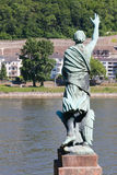 Waving Across the Rhine Royalty Free Stock Photography
