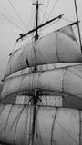 Waving from aloft on a tallship or sailboat Stock Photos