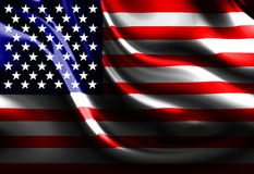 Waving american flag. With some folds Royalty Free Stock Image