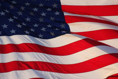 Waving American Flag. United States of America flag waiving in the wind Stock Photography