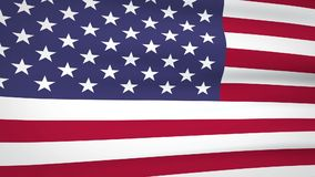 Waving american flag background. Loopable animated background of American flag waving in the wind stock video footage