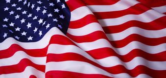 Waving American flag. Beautifully waving star and striped American flag Royalty Free Stock Image
