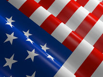 Waving american flag. American flag blowing in the wind Stock Images