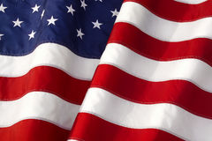 WAVING AMERICAN FLAG BACKGROUND Stock Photography