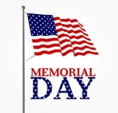 Waving american flag Stock Image