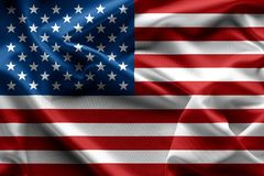 Waving American flag united states of america texture , backgrou. Nd Stock Image