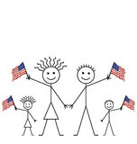 Waving American flags Stock Photography