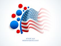 4th of July celebration background with American Flag. Waving American National Flag background for 4th of July, Independence Day celebration Vector Illustration