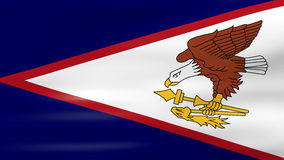 Waving American Samoa Flag, ready for seamless loop stock video