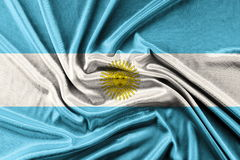 Waving Argentina Flag Stock Images